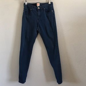 Gianni Bini   Mid-rise medium wash skinny jeans
